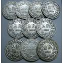 1904 -1913 -  SUIZA -  2  FRANCOS - 10 MONEDAS DIFERENTES -- SCHWEIZ