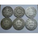 1874 -1903 -  SUIZA -  2  FRANCOS - 6 MONEDAS DIFERENTES -- SCHWEIZ