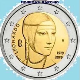 2019 - ITALIA - 2 EUROS - LEONALDO DA VINCI - CONMEMORATIVOS