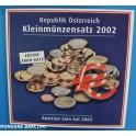 2002 AUSTRIA - EUROS - COLECCION BLISTER -OFFIZIELLER EURO -REPUBLIK OSTERREICH