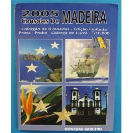 2005 - PORTUGAL - EUROS PRUEBA - 8 MONEDAS- MADEIRA -SPECIMEN