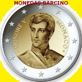 2019 - MONACO - 2 EUROS - PROOF - HONORATO V - MONACO