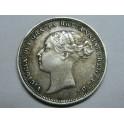 1885 - GRAN BRETAÑA -  SEIS PENCE - VICTORIA - JOVEN-plata