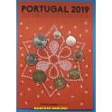 2019 - PORTUGAL - EUROS - BLISTER - PAJARO Y FLORES - 8 MONEDAS