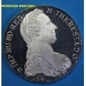1780-  AUSTRIA - OSTERREICH - RESTRIKE - REACUÑACION - MARIA TERESA -PLATA