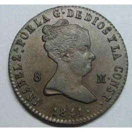 1841 - ISABEL II - 8 MARAVEDIS - SEGOVIA