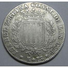 1837- ISABEL II - 1 PESETA - BARCELONA. monedasbarcino.com