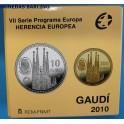 2010 - ESPAÑA - 10 y 200 EUROS PLATA y ORO - SAGRADA  FAMILIA -