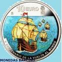 2019  - ESPAÑA - 10  EUROS  - VUELTA AL MUNDO - PLATA