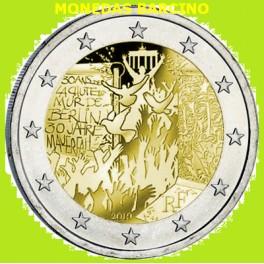 2019 - FRANCIA - 2 EUROS - MURO DE BERLIN -CONMEMORATIVOS