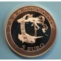 2008 - CHIPRE - 5  EUROS - EUROPA- PLATA