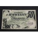 1937 - ALMACELLES - 50 CENTIMOS - LLEIDA -LERIDA - BILLETE