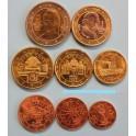 2002 - AUSTRIA - EUROS - COLECCION 8 MONEDAS
