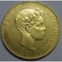 1897 - ESPAÑA -100 PESETAS  - ALFONSO XIII - ORO