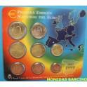 1999 - ESPAÑA -  EUROS  - CARTERA  - COLECCION 8 MONEDAS