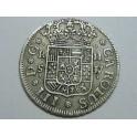 1762 - CARLOS IV - 2 REAL - SEVILLA  -PLATA - ESPAÑA