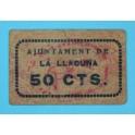 LA LLACUNA - 50 CENTIMOS - BARCELONA - BILLETE PUEBLO