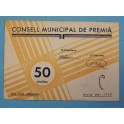1937 - PREMIA - 50 CENTIMOS - BARCELONA - BILLETE PUEBLO