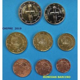 2019 - CHIPRE - EUROS - COLECCION de euro -KYIIPOE-KIBRIS