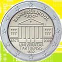 2019 ESTONIA- 2 EUROS  - UNIVERSIDAD TARTU - EESTI