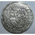 1556- 1598 - FELIPE  II- BOLIVIA POTOSI- 4 REAL COB -ESPAÑA COLONIAL