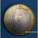2010 - ESLOVENIA - 3 EUROS - PRESTOLNICA - UNESCO - SLOVENIJA-
