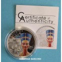 2013 - COOK ISLANDS -  5  DOLLAR - NEFERTITI- PLATA