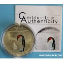 2013- COOK ISLANDS -  5  DOLLARS - PINGUINO - BICOLOR PROOF - PLATA .-monedasbarcino.com