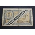 1937 - LLOBREGAT - BARCELONA - 1 PESETAS- BILLETE PAPEL MONEDA-monedasbarcino