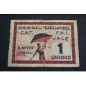 1937 - BINEFAR  - HUESCA - 1 UNIDAD - BILLETE PAPAEL MONEDA