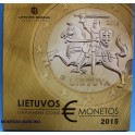 2015- LITUANIA - EUROS - 8  MONEDAS - LIETUVA -  BLISTER-monedasbarciino