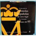 1995 -ESPAÑA -  PESETA - JUAN CARLOS I- 8 MONEDAS - CARTERA-monedasbarcino