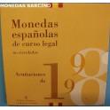 1998 -  ESPAÑA -  PESETAS - 8 MONEDAS - CARTERITA-monedasbarcino