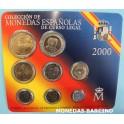 2000-  ESPAÑA -  PESETAS - 8 MONEDAS - CARTERITA-monedasbarcino