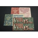 1937 - BARCELONA - 10+15 CENTIMOS- 1 - 1,50 PESETA -BILLETE PAPEL MONEDA
