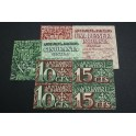 1937 - BARCELONA - 10+15+50 CENTIMOS - 1,50 PESETA -BILLETE PAPEL MONEDA