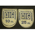 1937 - BARCELONA - INDUSTRIAL GASTRONOMICA - 10-25 CENTIMOS -BILLETE PAPEL MONEDA