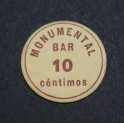 1937 - BARCELONA -  GRACIA - BAR MONUMENTAL - 10 CENTIMOS -BILLETE PAPEL MONEDA