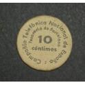 1937 - BARCELONA - COMPAÑIA TELEFONICA - 10 CENTIMOS -BILLETE PAPEL MONEDA