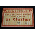 1937 -ROCALLAURA - 25 CENTIMOS - BILLETE PAPEL MONEDA-monedasbarcino