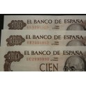 1970- ESPAÑA - 100  PESETAS - MADRID - FALLA - BILLETE - BANKNOTE