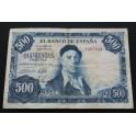 1954 - ESPAÑA - 500 PESETA - ZULOAGA -  BILLETE  ESTADO ESPAÑOL