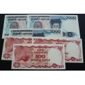 1984-1987 INDONESIA -  100 RUPIAH -CONSECUTIVOS- 6  BILLETE