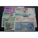 1956-2005 INDONESIA -RUPIAH - 8 BILLETES DIFERENTES -BANKNOTES