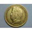 1831 -  FRANCIA - 40 FRANCOS -ORO -  LOUIS PHILIPPE I