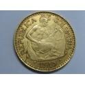 1913 - COLOMBIA - 5 PESOS - ORO - MONEDA GOLD