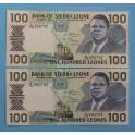 1990  -SIERRA LEONA - 100 LEONES - LEONE - BILLETE