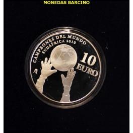 2010 - ESPAÑA - 10 EUROS - FUTBOL - CAMPEONES