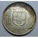 1952  -  SUIZA -  5  FRANCOS - HERVETIA - 5 francs -                            - SCHWEIZ
