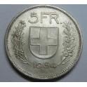 1954  -  SUIZA -  5  FRANCOS - HERVETIA - 5 francs -                            - SCHWEIZ